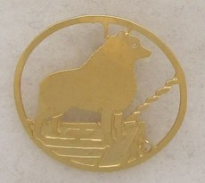Schipperke Gold plated Brooch-0