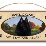 Schipperke- Welcome Hanging Sign-0