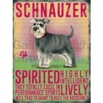 Schnauzer - Hanging Metal Sign-0