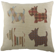Scottish Terrier Tapestry Cushion Cover-0
