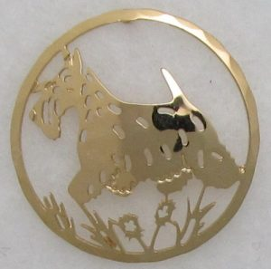 Scottish Terrier Gold plated Brooch-0