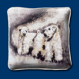 Soft Coated Wheaten Terrier - Woven Cushion Cover-0