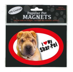 I Love My Shar-Pei - Oval Magnet-0