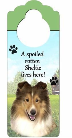 Shetland Sheepdog Door Knob Sign-0