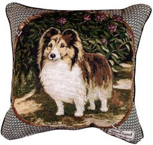 Shetland Sheepdog - Tapestry filled cushion-0