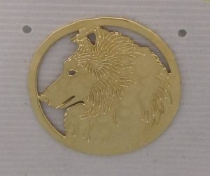Shetland Sheepdog Gold plated Brooch-0