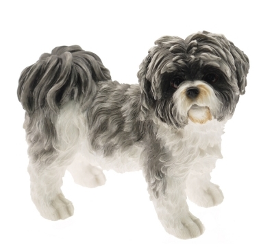 Shih Tzu (Grey/White) Figurine -0