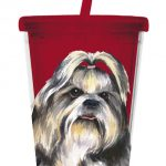 Shih Tzu - 500ml Insulated Cup with Straw-0