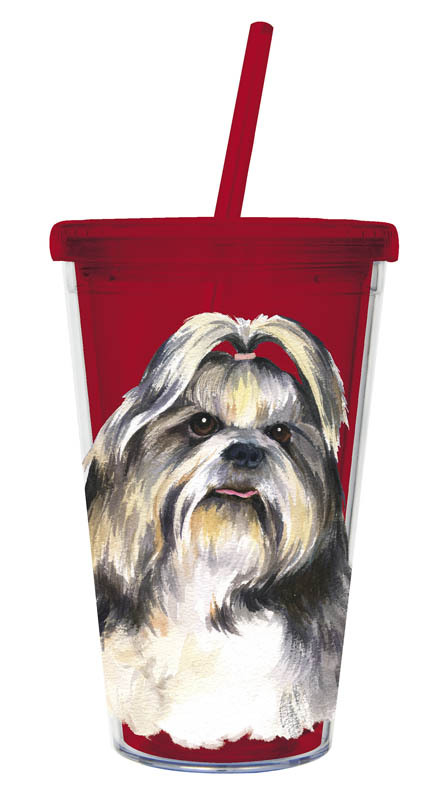 Shih Tzu – 500ml Insulated Cup with Straw-0