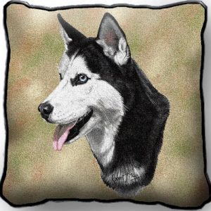 Siberian Husky Tapestry Cushion Cover-0