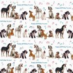 Dog Song Gift Wrap & Tag-0