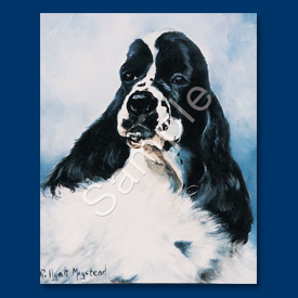 Black & White Cocker Spaniel - List Pad & Magnet Combo-0