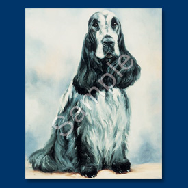 English Cocker Spaniel- 6 pack Note Cards–0