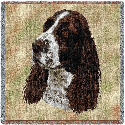 Springer Spaniel Tapestry Throw-0