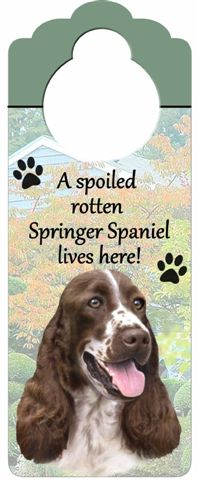 English Springer Spaniel Door Knob Sign-0