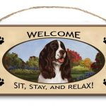 Springer Spaniel - Welcome Hanging Sign-0