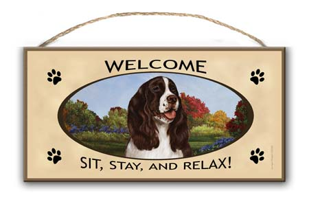 Springer Spaniel – Welcome Hanging Sign-0