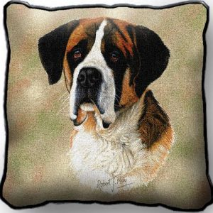 Saint Bernard Tapestry Cushion Cover-0