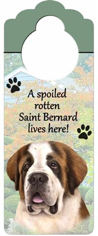 Saint Bernard Door Knob Sign-0