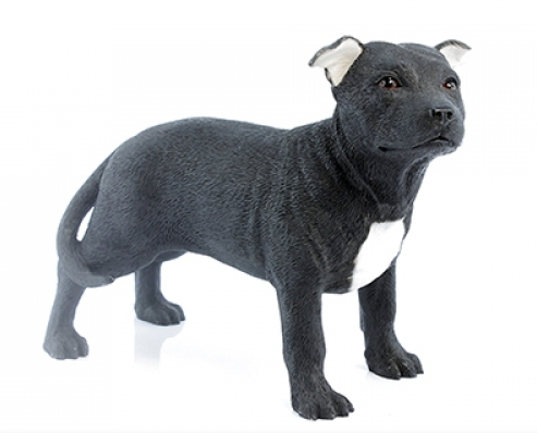 Staffordshire Bull Terrier Figurine (Black)-0