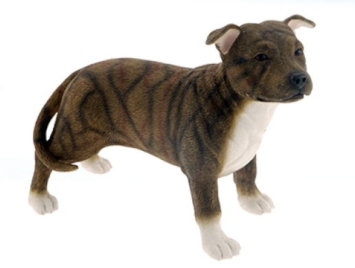 Staffordshire Bull Terrier Figurine (Brown)-0