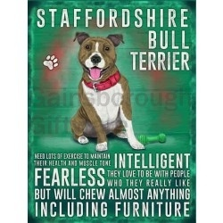 Staffordshire Bull Terrier – Hanging Metal Sign-0