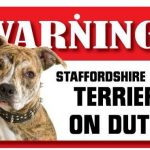 Staffordshire Bull Terrier Warning Sign-0