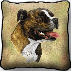 Staffordshire Bull Terrier - Tapestry Cushion Cover-0