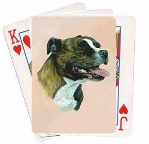 Staffordshire Bull Terrier - Deck of Playing Cards-0