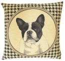 Small Belgium Tapestry Cushion Cover – Boston Terrier-0