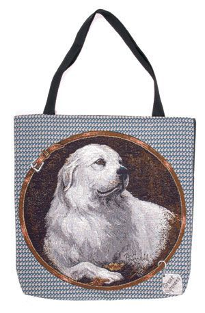 Pyrenean Mountain Dog Tapestry Tote bag-0