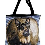 German Shepherd Tapestry Tote bag-0