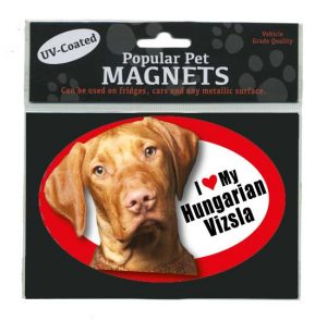 I Love My Hungarian Vizsla - Oval Magnet-0