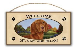 Hungarian Vizsla - Welcome Hanging Sign-0