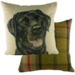 "Black Labrador "" WaggyDogz"" Cushion Cover-0"