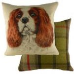 "Cavalier King Charles Spaniel "" WaggyDogz"" Cushion Cover-0"