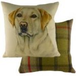 "Yellow Labrador "" WaggyDogz"" Cushion Cover-0"