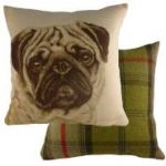 "Pug "" WaggyDogz"" Cushion Cover-0"