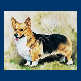 Corgi (Black & Tan) Magnet-0