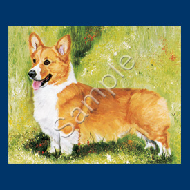 Welsh Corgi - 6 pack Note Cards--0
