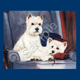 West Highland Terrier - 6 pack Note Cards-0