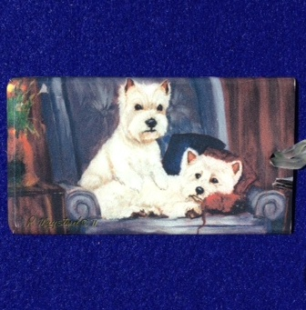 West Highland Terrier Luggage Bag Tag-0