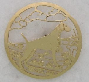 Weimaraner Gold plated Brooch-0