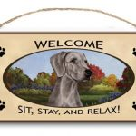 Weimaraner - Welcome Hanging Sign-0