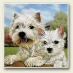 West Highland Terrier - Stone Coaster-0
