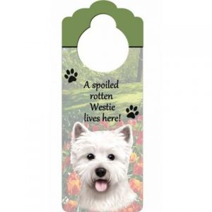 West Highland Terrier Door Knob Sign-0