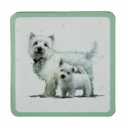 West Highland Terrier - Coasters-0