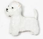 West Highland Terrier Hand Painted Pin-0