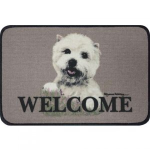 West Highland Terrier Coir Door Mat-0