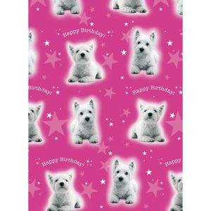 West Highland Terrier Gift Wrap & Tag-0